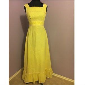🔥Vintage 70s Polkadot Yellow dress!